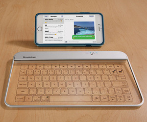 Wireless Touch-Sensitive Glass Keyboard