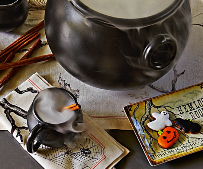Witch Cauldron Mugs and Serving Bowl