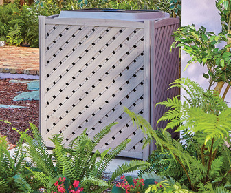 Wooden Lattice Air Conditioner Screen