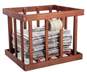 Wooden Newspaper Bundler
