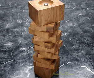 Wooden Puzzle Pepper Mill