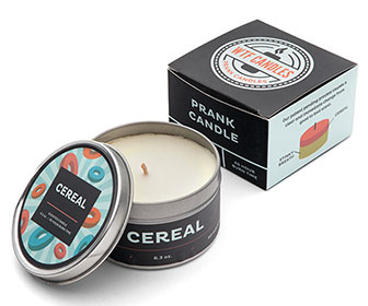 WTF Prank Candles - Cereal to Bad Breath / Soda to Body Odor