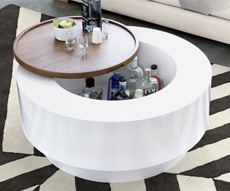 Ya Ya Coffee Table With Built-In Hidden Bar / Storage