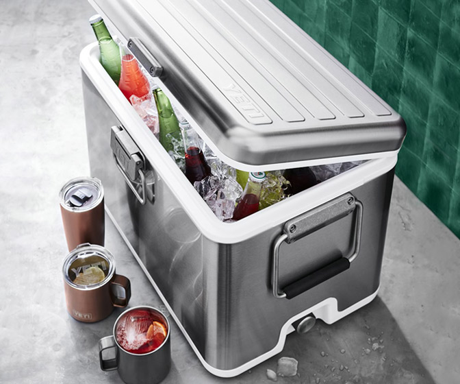 YETI V Series - Stainless Steel Vacuum-Insulated Hard Cooler