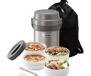 Zojirushi Mr. Bento Stainless Lunch Jar w/ Carry Bag