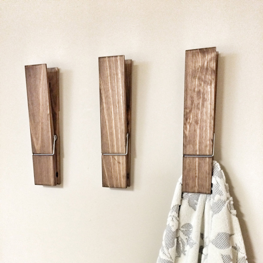 Large Clothespin Wall Decor