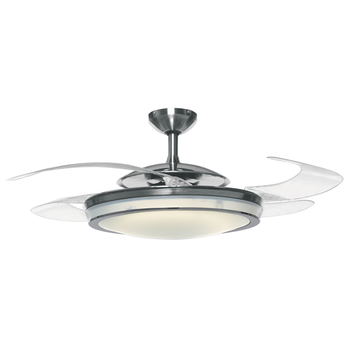 Ceiling Fans With Lights : Hunter fanaway retractable blade ceiling fan pendant