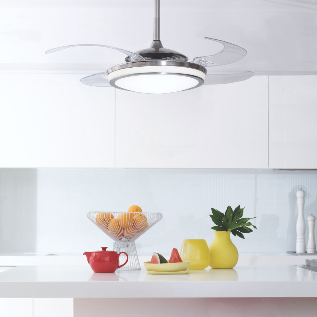 Retractable Kitchen Light Retractable Ceiling Fan Ideas Beautiful Kitchens With Islands