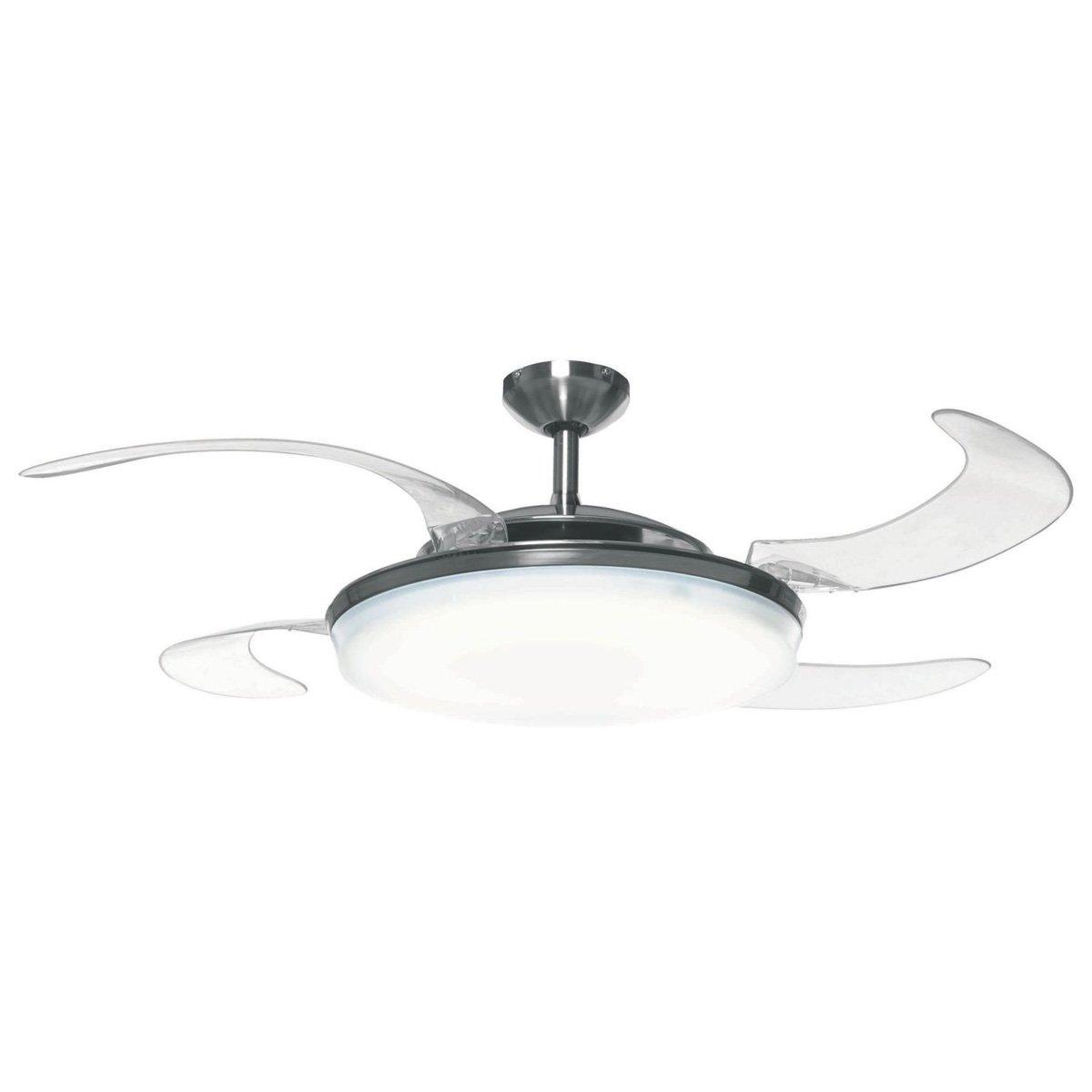 Lamp Fan: Retractable Blade Ceiling Fan / Pendant