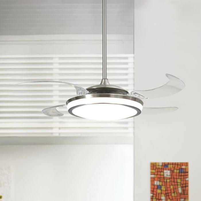 Hunter Fanaway Retractable Blade Ceiling Fan Pendant Light The Green Head