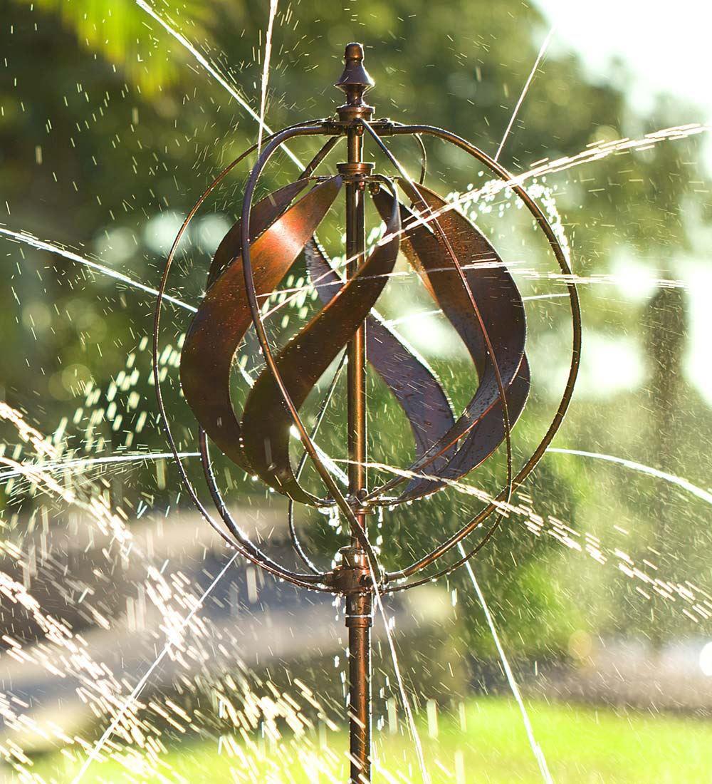 Hydro Ball Wind Spinner Garden Sprinkler The Green Head