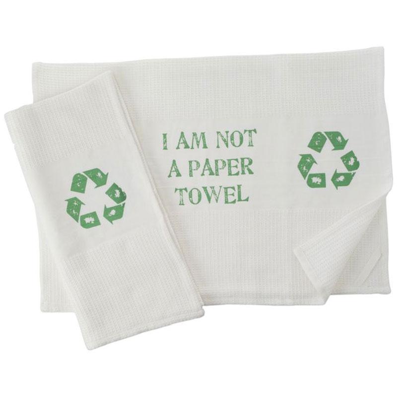 I Am Not A Paper Towel Kitchen Towel Set The Green Head