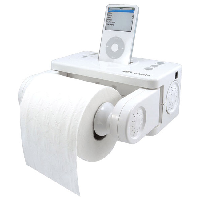 iCarta  iPod Dock  Toilet Paper Holder  The Green Head # Accessoires De Toilet Bobrick_002432