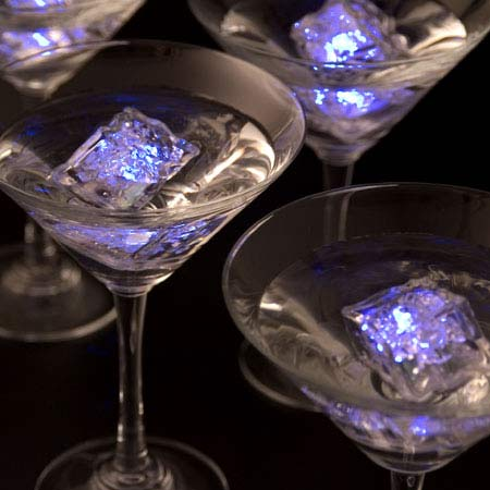 ice lite cubes light up your drinks