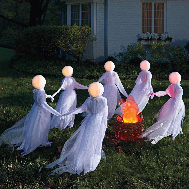 Illuminated Holding Hands Ghosts