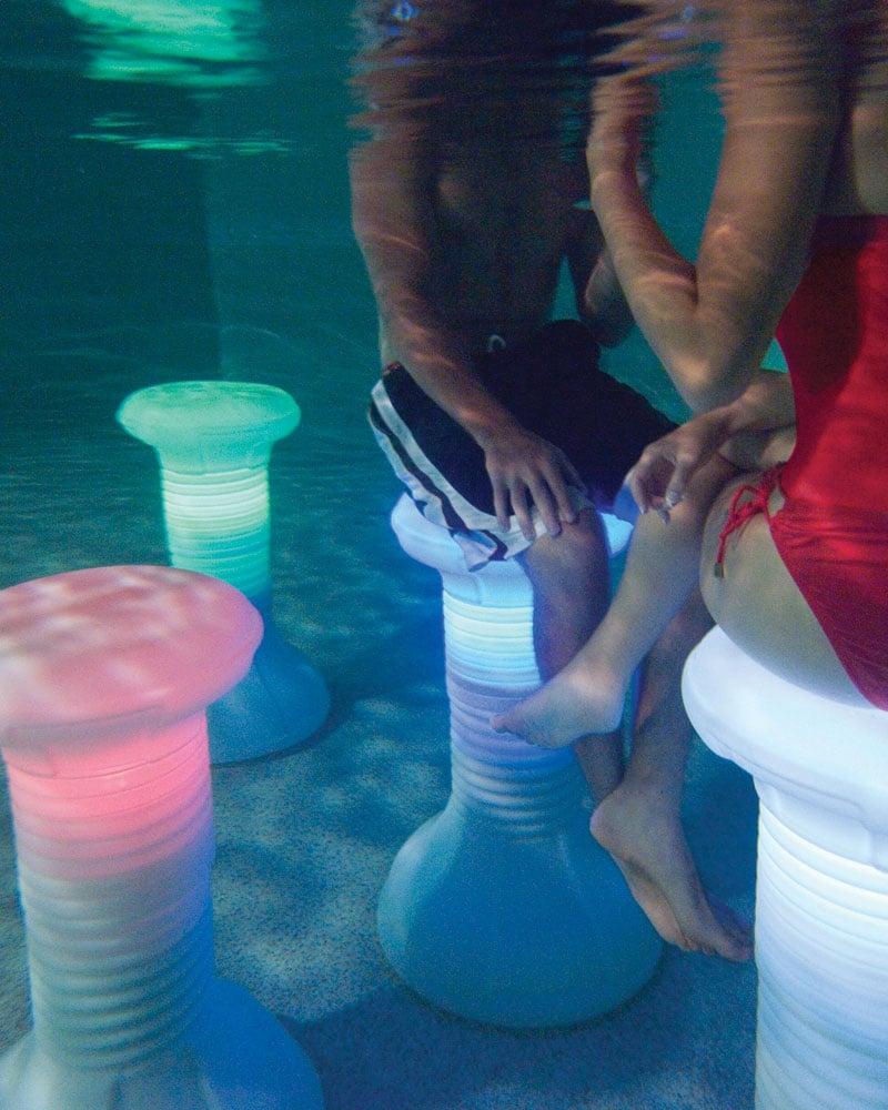 Illuminated Pool Barstool