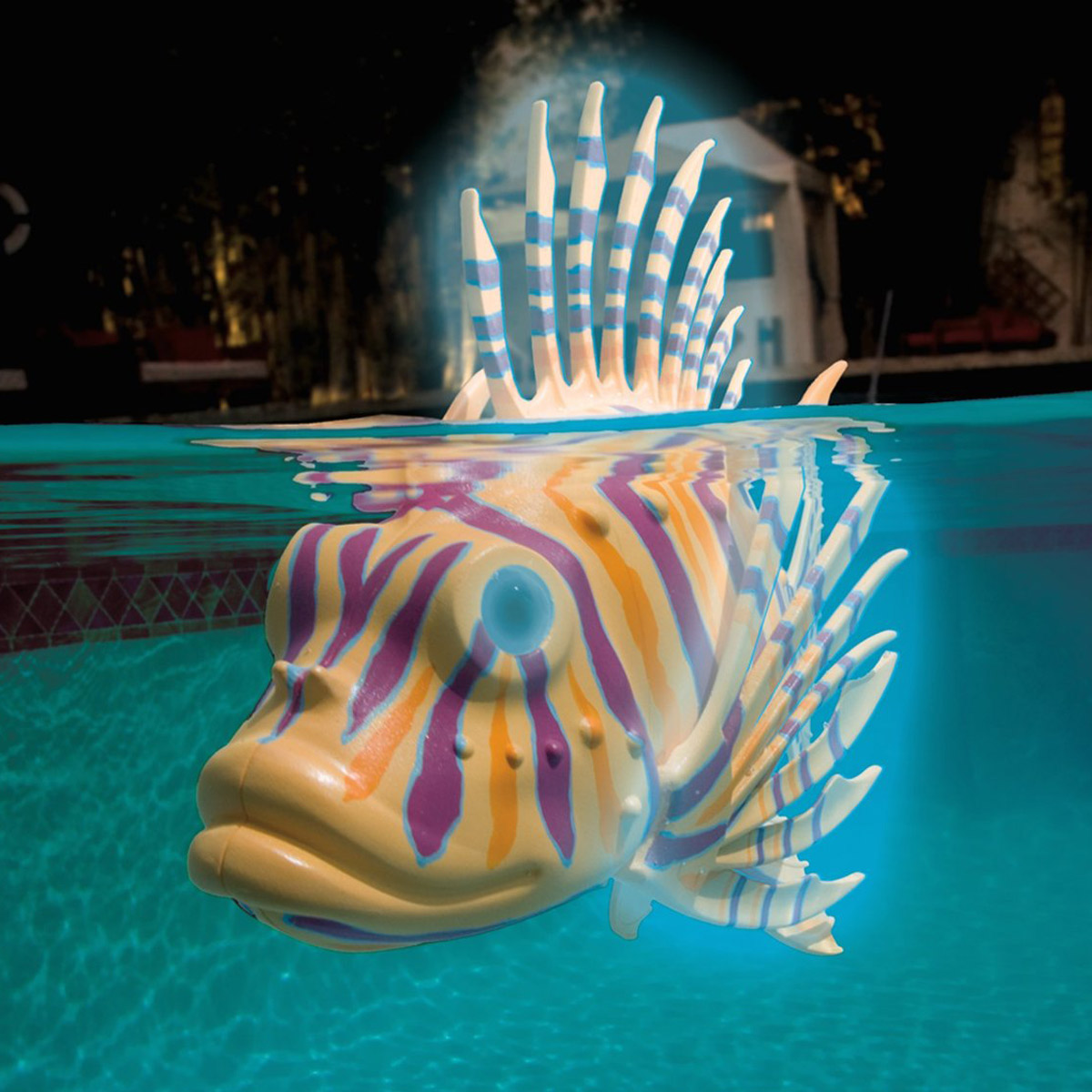 Illuminated Robotic Pool Fish The Green Head