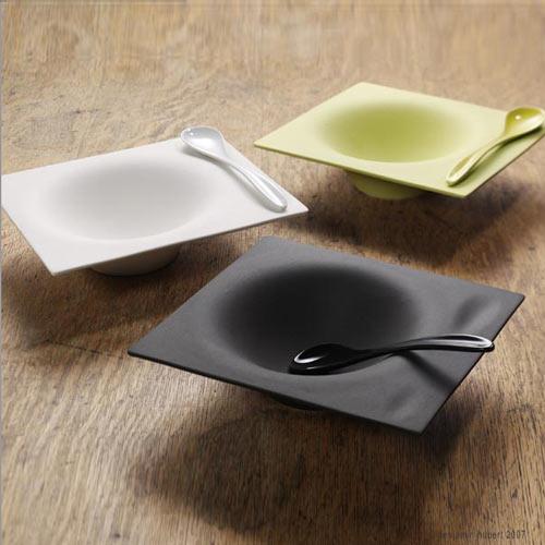 Impression Crockery Ceramic Soup Bowl And Spoon Set