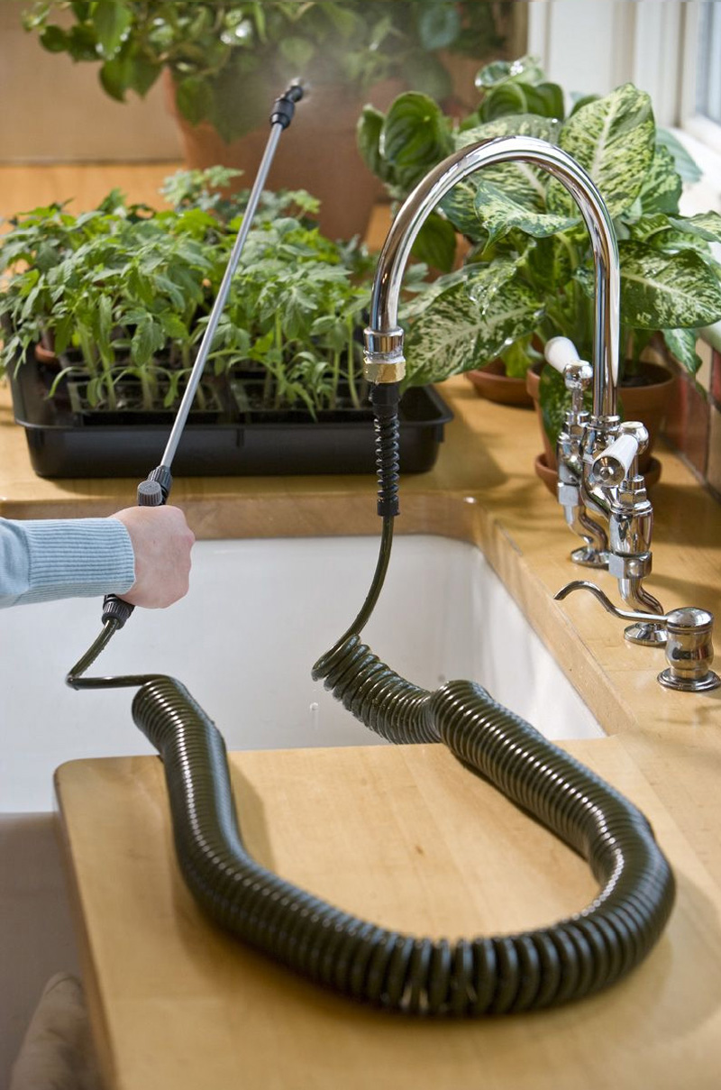 Indoor Water Hose Attaches To Kitchen Sink