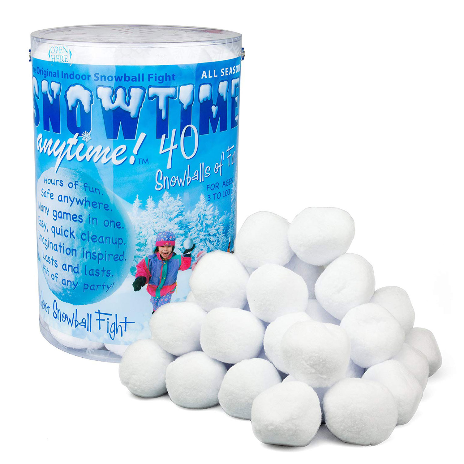 With 6 Indoor Snowballs Snow Target Game For Age 6+ Brand New