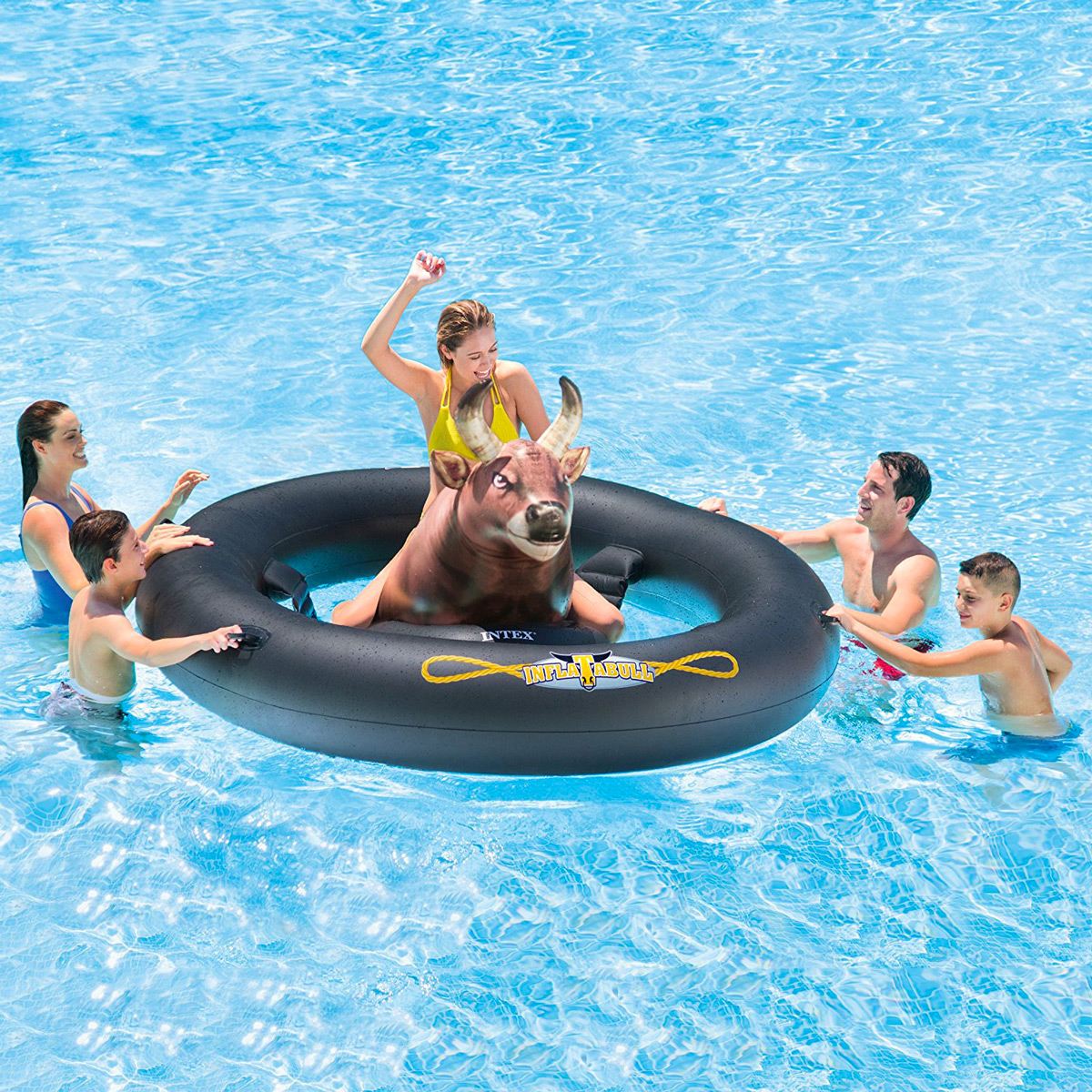 Inflat a Bull Inflatable Bull Riding Pool Toy The Green Head