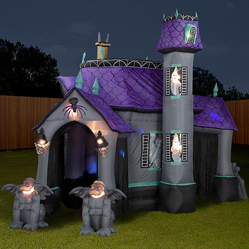 inflatable halloween haunted house - Blow Up Halloween Decorations