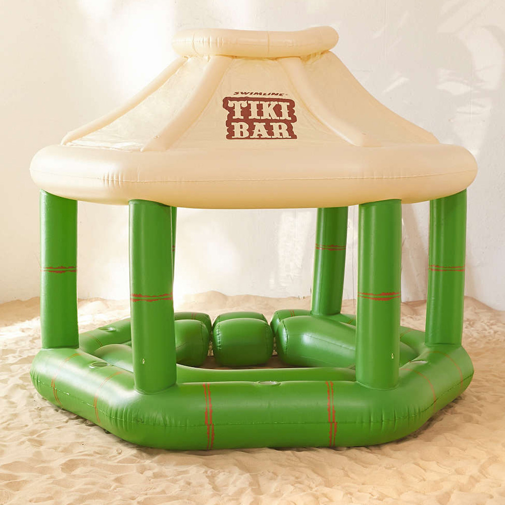 Inflatable Floating Swim Up Tiki Bar The Green Head