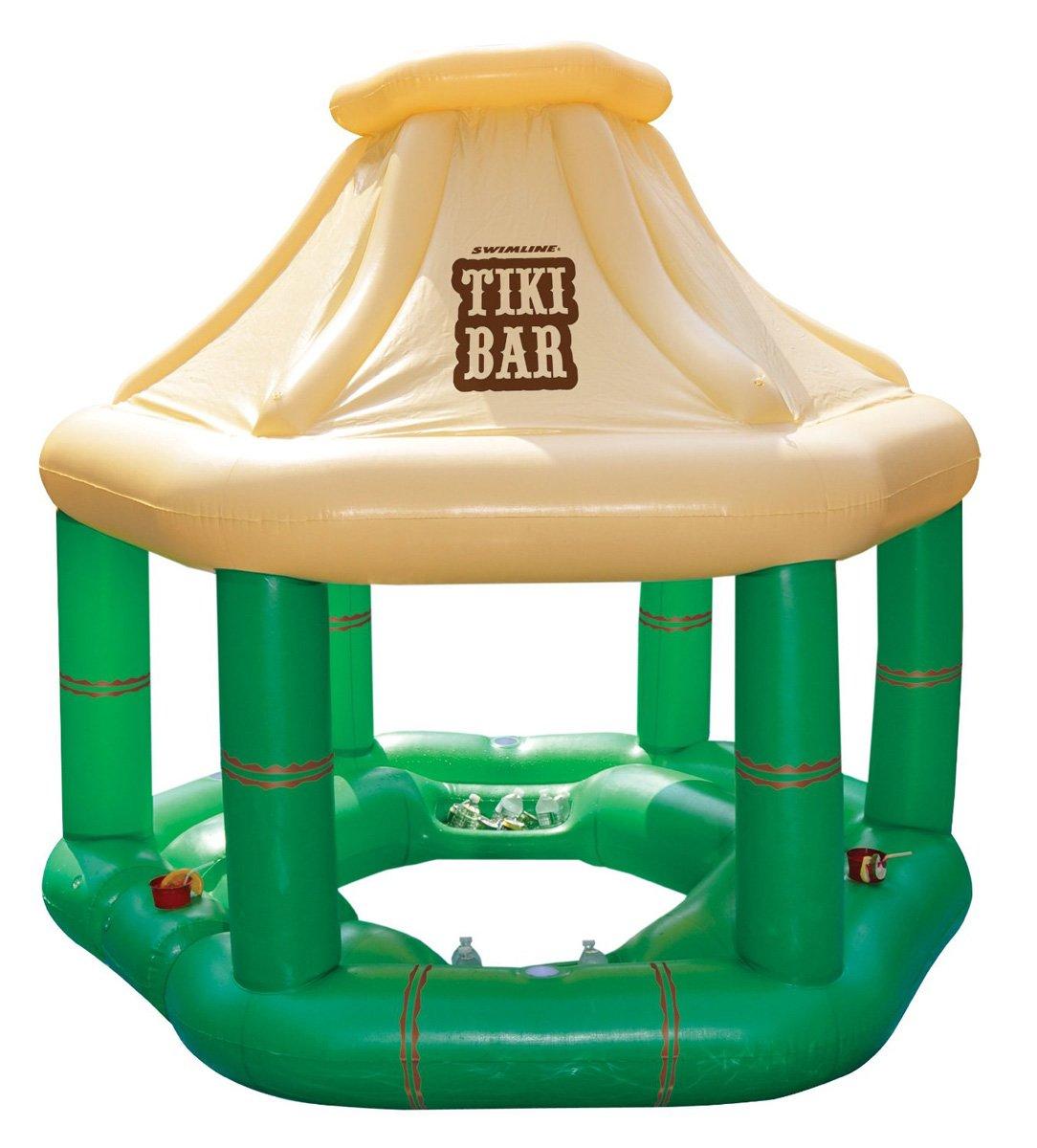 Floating pool bar - Inflatable Floating Swim Up Tiki Bar