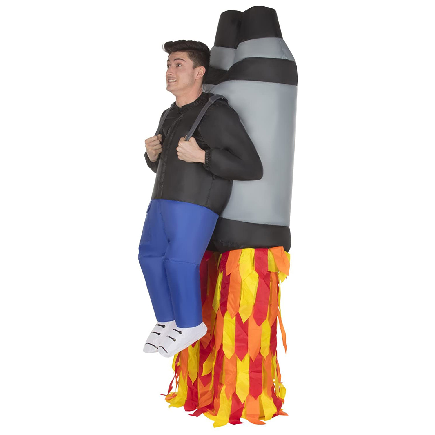 Unisex Adult Jet Pack Fancy Dress Costume Fake Legs Rocket Party Outfit Fits All