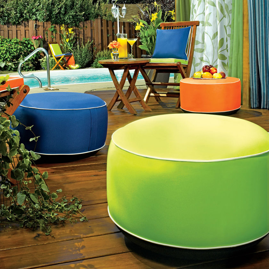inflatable outdoor furniture. inflatable outdoor ottomans furniture a