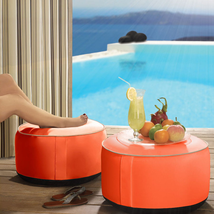 inflatable outdoor ottomans  the green head - inflatable outdoor ottomans