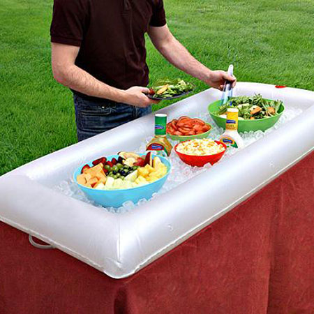 Inflatable salad bar beverage cooler the green head for How to be cool at a bar