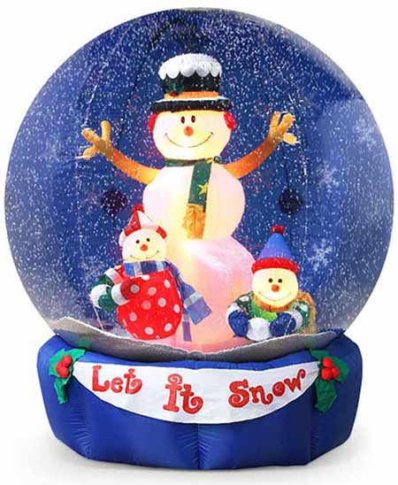 how to make a large snow globe