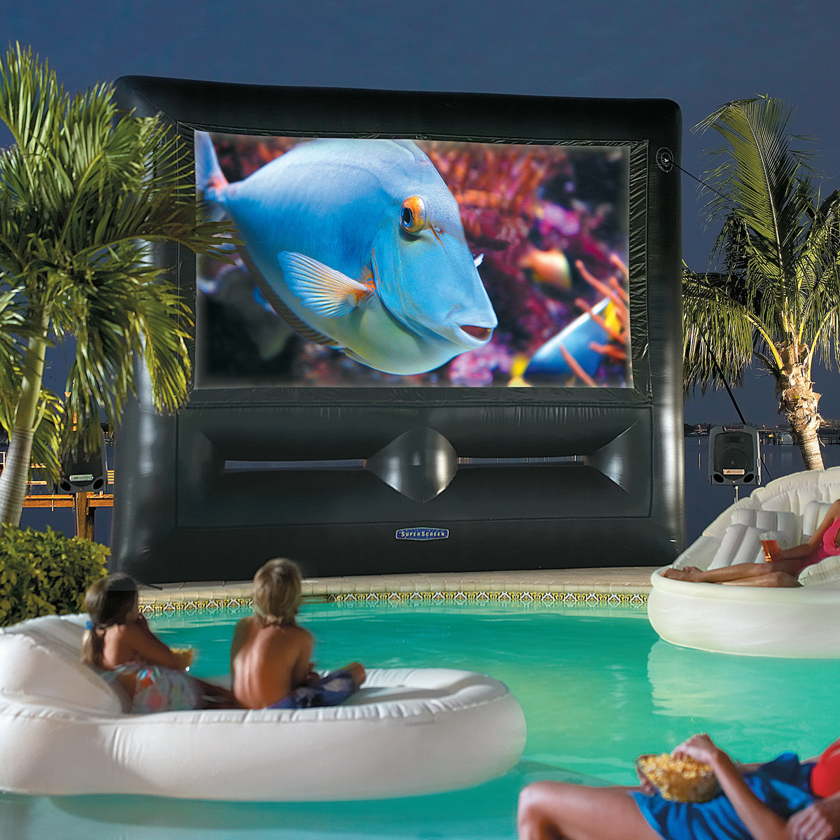 Backyard Theater Ideas : Inflatable SuperScreen Outdoor Theater System  Ultimate Home Theater!