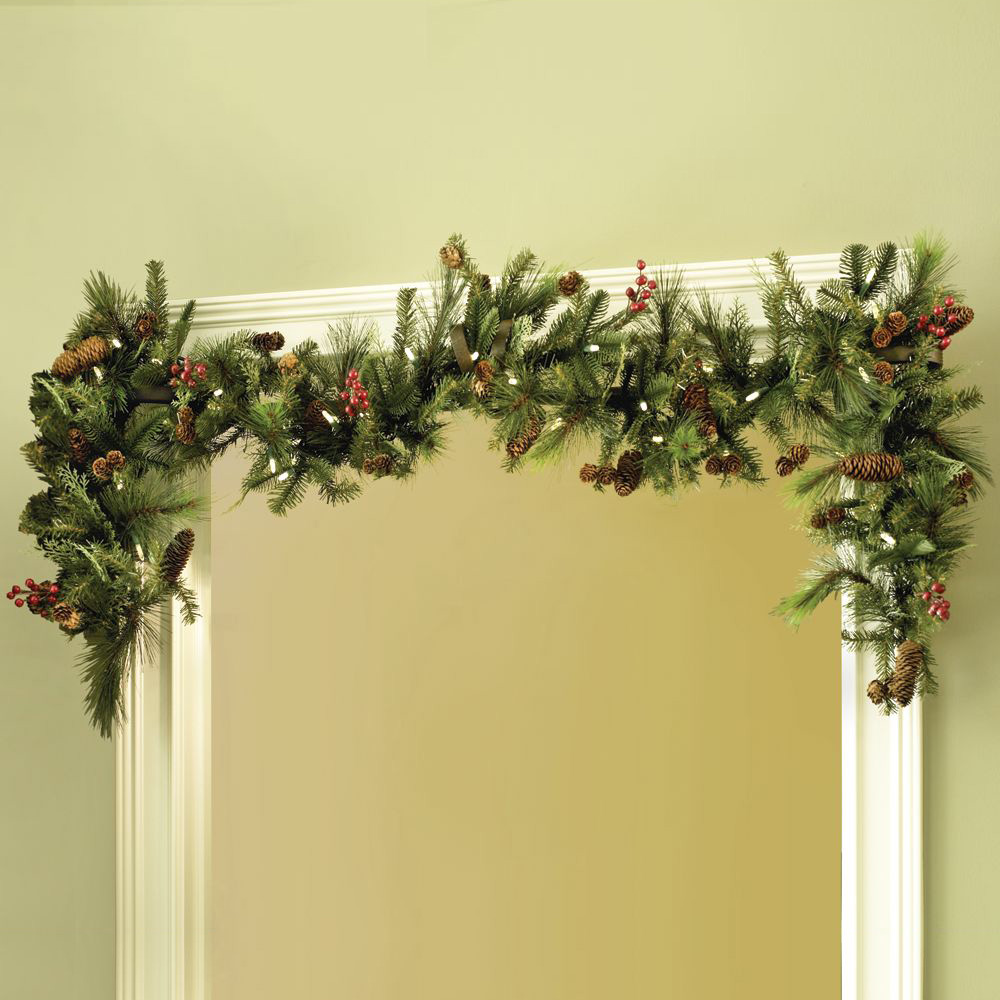 Instant doorway garland hanger the green head for Door garland christmas