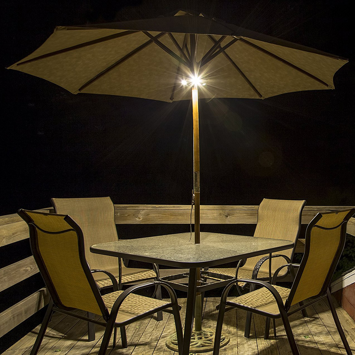 Ion Audio Patio Mate Umbrella Light And Bluetooth Stereo