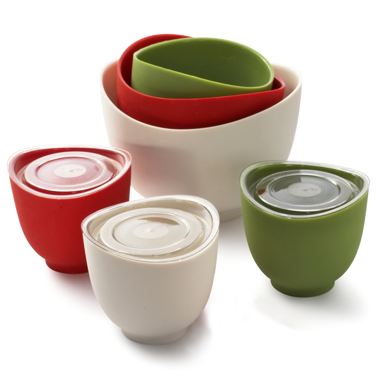 iSi Basics - Flexible Silicone Mixing Bowls - The Green Head
