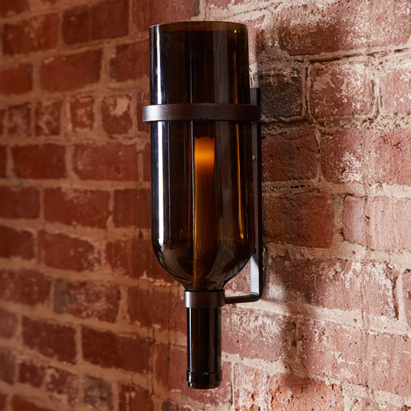 Italian Candle Wall Sconces : Italian Wine Bottle Candle Sconce - The Green Head
