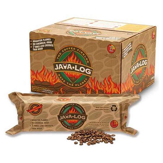Java Log - Recycled Coffee Grounds Fireplace Logs - Java Log - Recycled Coffee Grounds Fireplace Logs - The Green Head