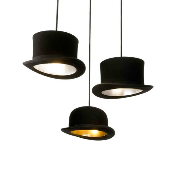 Jeeves And Wooster Authentic Bowler And Top Hat Pendant Lights The Green Head