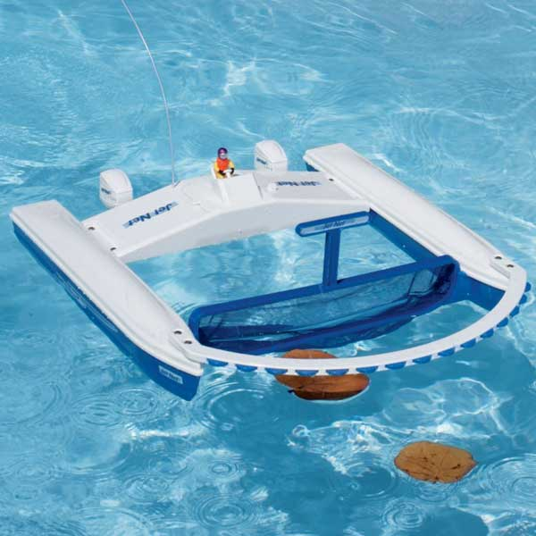 Jet net pool skimmer