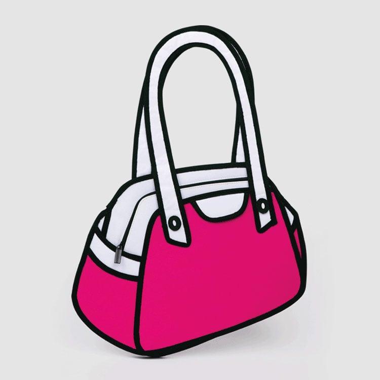Jump From Paper D Cartoon Bags The Green Head - Cartoon handbags