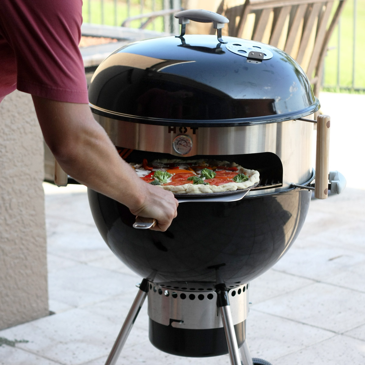 kettlepizza turns a kettle grill into an outdoor pizza oven. Black Bedroom Furniture Sets. Home Design Ideas