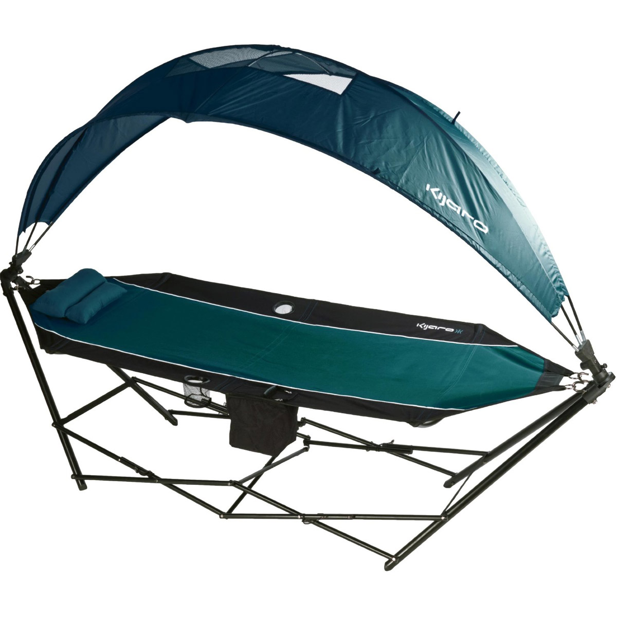 kijaro - portable hammock with canopy and cooler - the green head