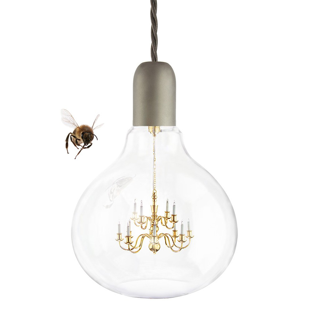 King edison pendant chandelier lamp the green head - Hanging bulb chandelier ...