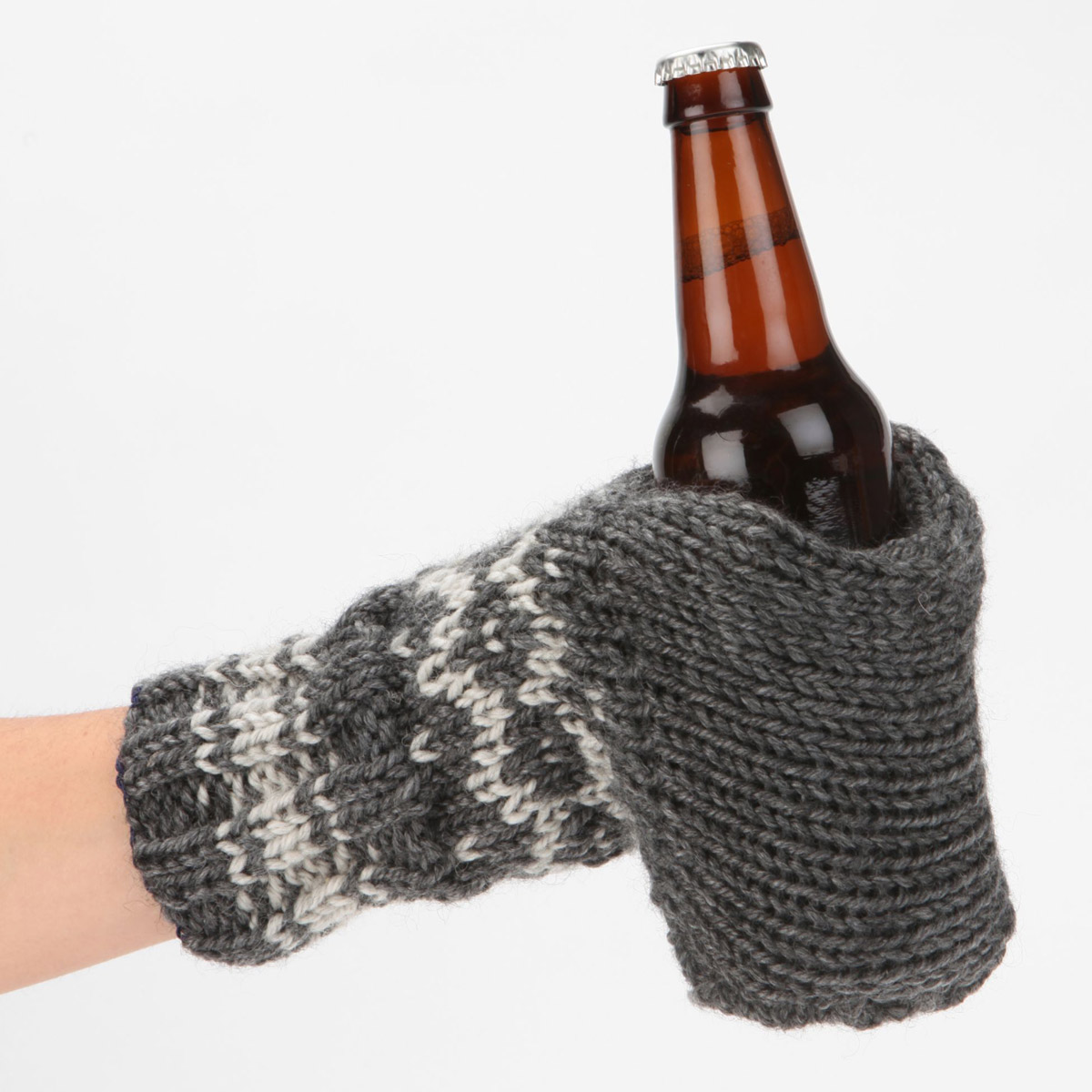 Knitting Pattern Cup Holder : Knit Glove Drink Holder - The Green Head