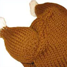 Knitted Turkey Baby Hat - The Green Head