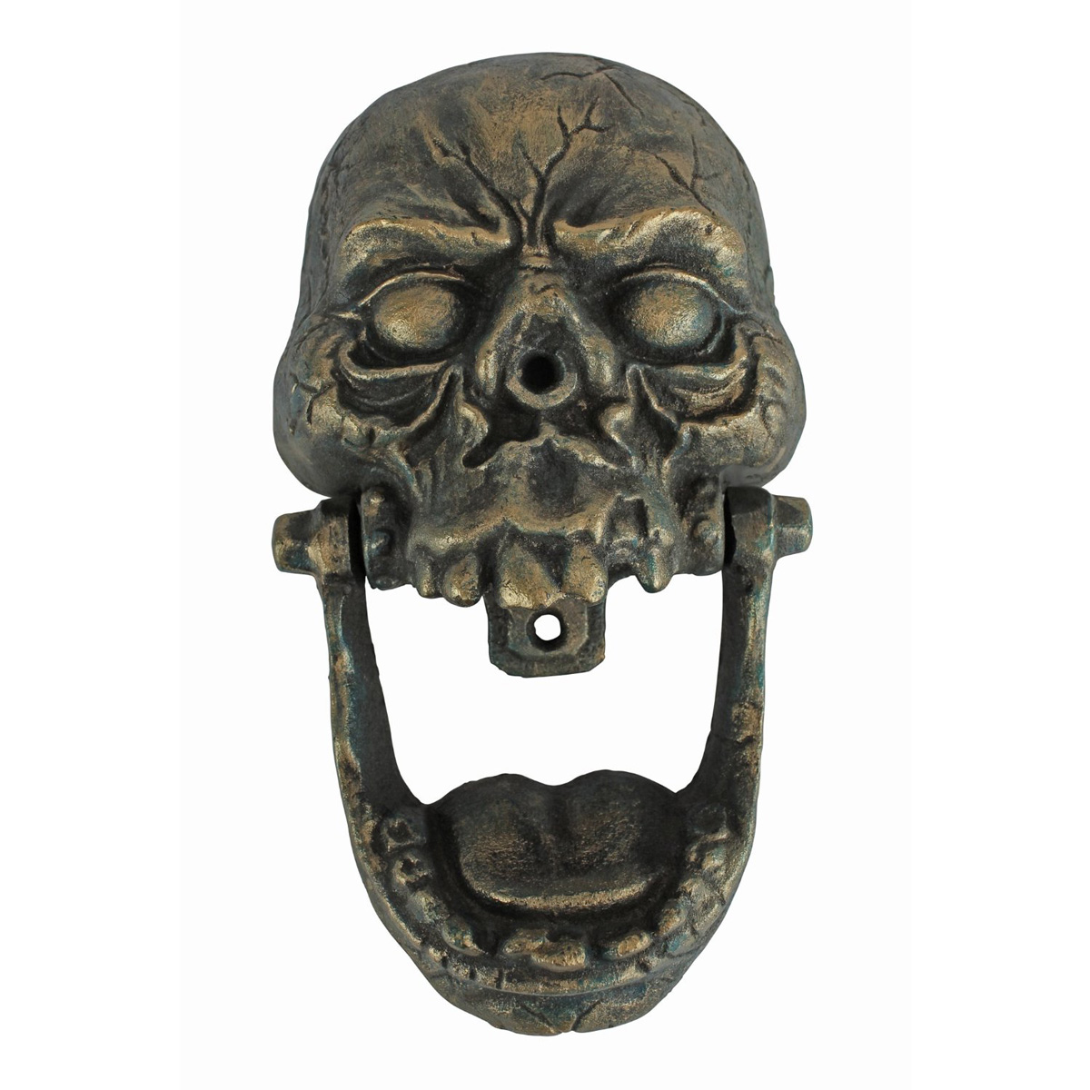 Knock Jaw Cast Iron Skull Door Knocker The Green Head