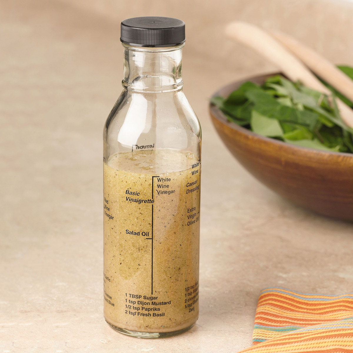 Kolder All In One Salad Dressing Bottle For Mixing