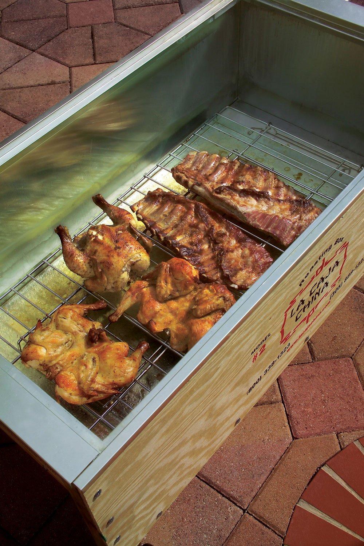China Box Cooker ~ La caja china roasting box the green head
